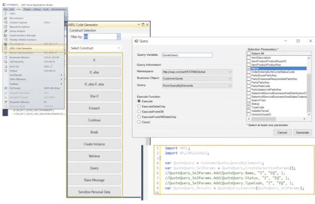 C4C Release 2011 | ABSL Code Generator | IBsolution