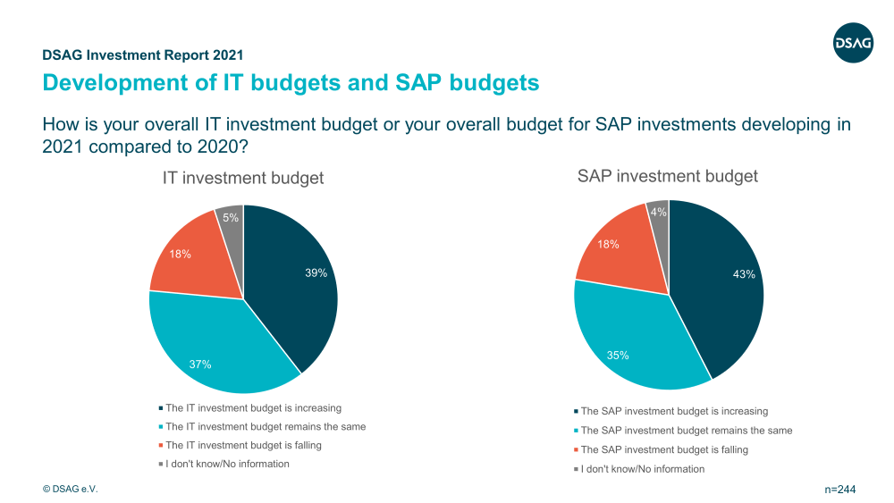 DSAG Investment Report 2021 | Investment budgets | IBsolution