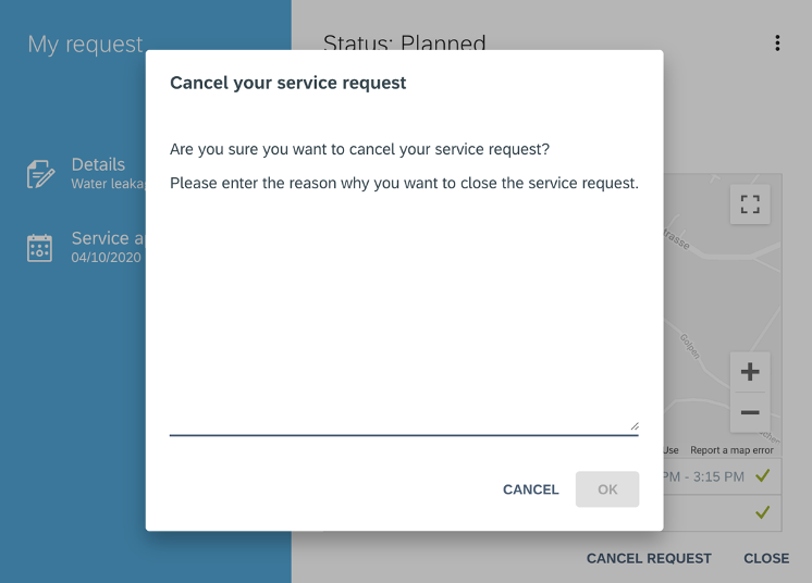 FSM Release 2008 Cancel service request | IBsolution