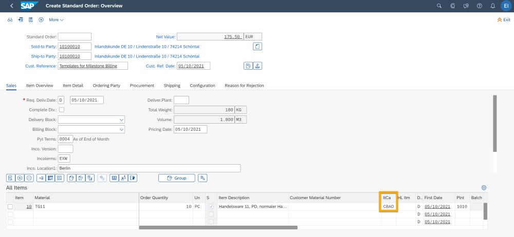 SAP S4HANA Cloud 2105 | Teilfakturierung | IBsolution