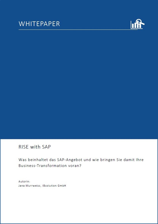 Whitepaper RISE with SAP   IBsolution