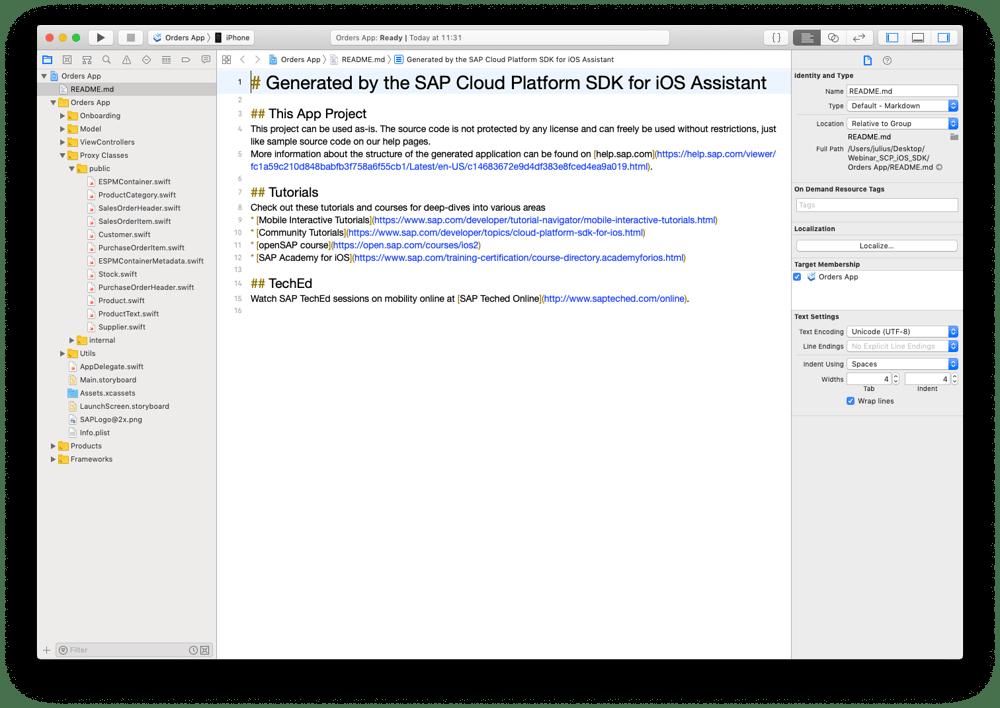 Xcode SAP IBsolution