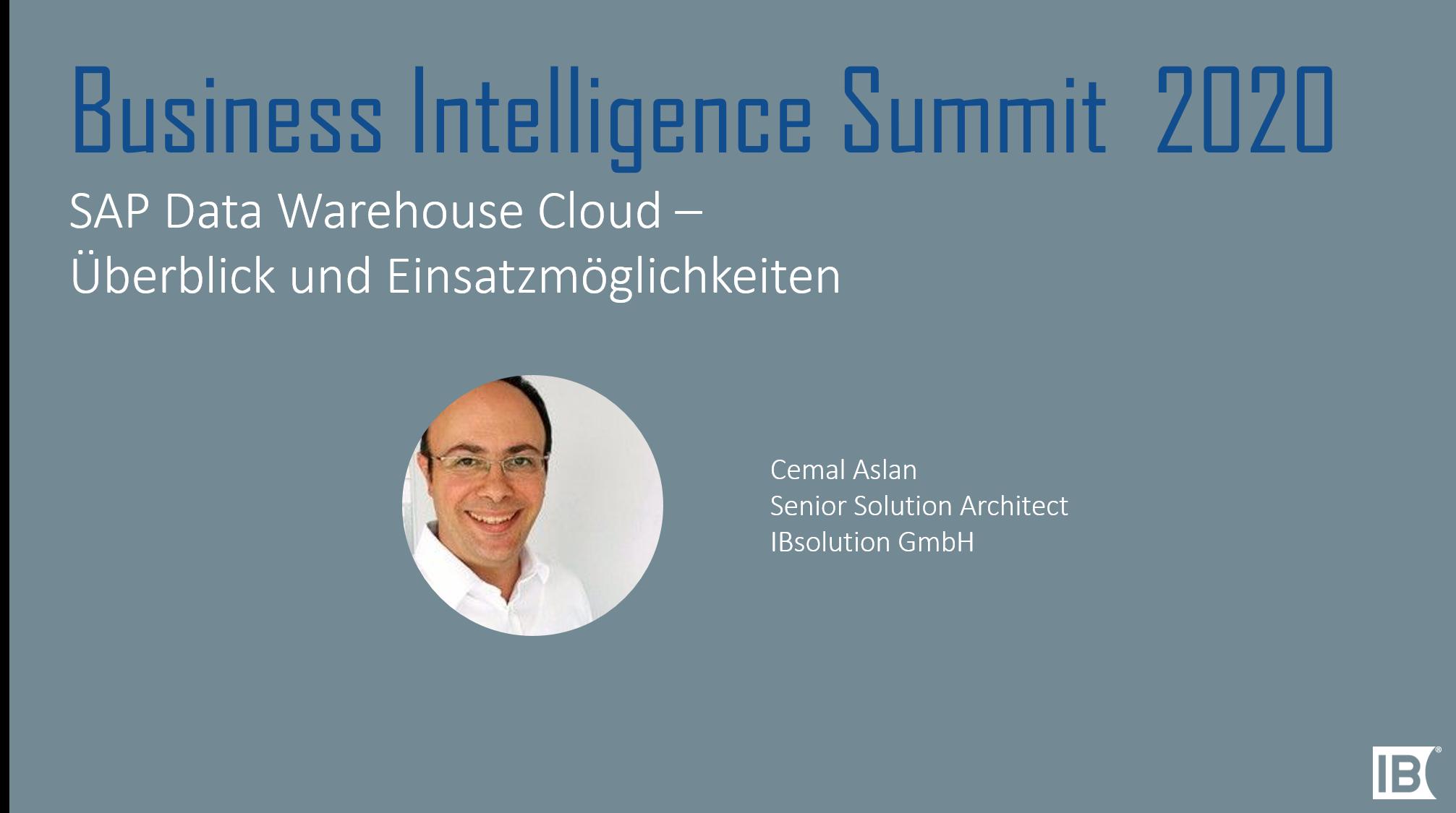 SAP Data Warehouse Cloud Vortrag