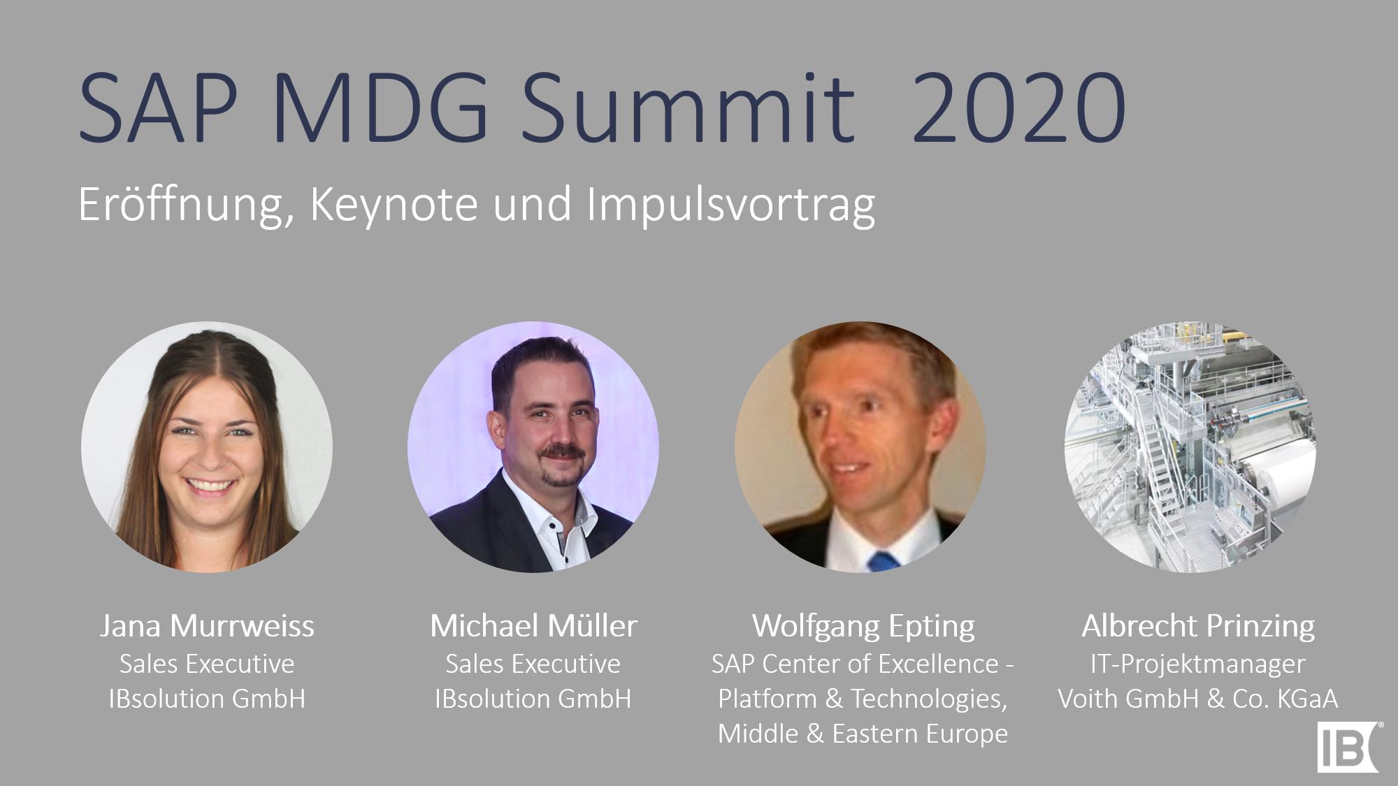 Keynote MDG Summit 2020