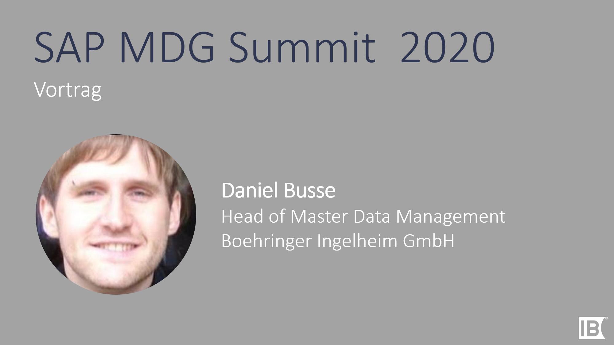 Vortrag Daniel Busse MDG Summit