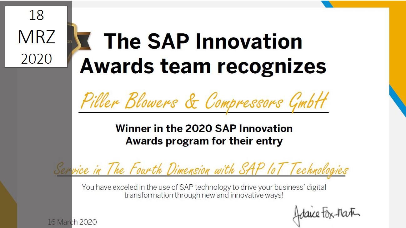 IBsolution Piller SAP Innovation Award 2020