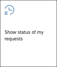 Show status of my requests rand
