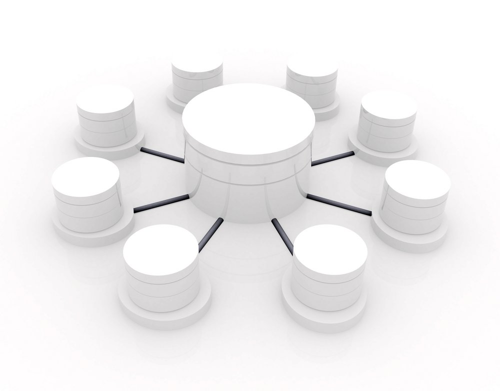3d image of a database concept over white-1