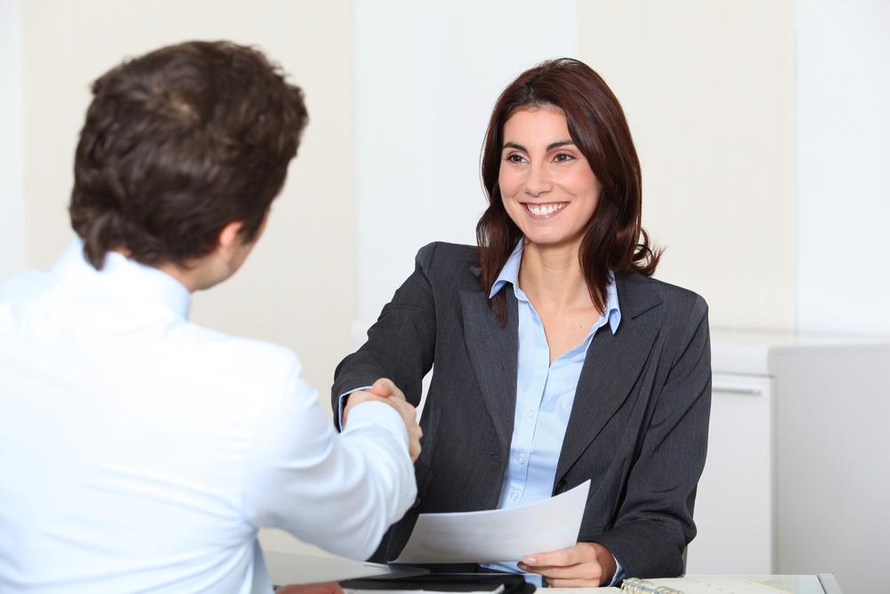 Job applicant having an interview IBsolution