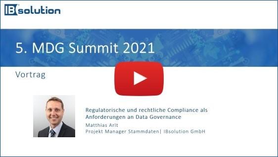Vortrag Data Governance MDG Summit 2021   IBsolution